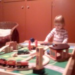 Thank heavens for train sets on snowy days