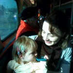 Riding the Metra from the 'burbs to downtown Chicago with my family