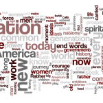 President Obama's inauguration speech as a word cloud