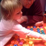 Enjoying the activities for lil' kids at OMSI