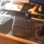 My man Mike has a suave ergonomic setup for his keyboard & mouse