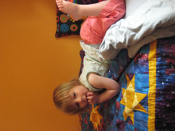 "Evelyn's room is transformed by her ""big kid bed"""