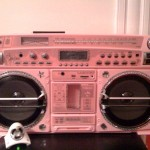Beautiful or blasphemous boombox courtesy of @monicaeinaudi: you be the judge