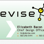 Should I go for biz card concept 2 with shiny background?