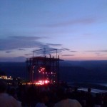 A near infinity and yet finally the sun set behind Phish at the Gorge