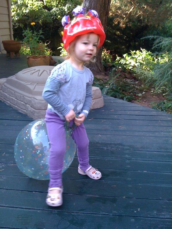 My 3 year-old hippity-hoppity queenie
