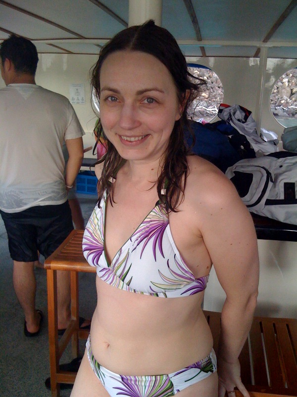Post-snorkeling at Kealakekua Bay