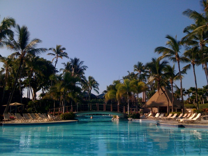 Everything looks rather lovely poolside in Hawaii