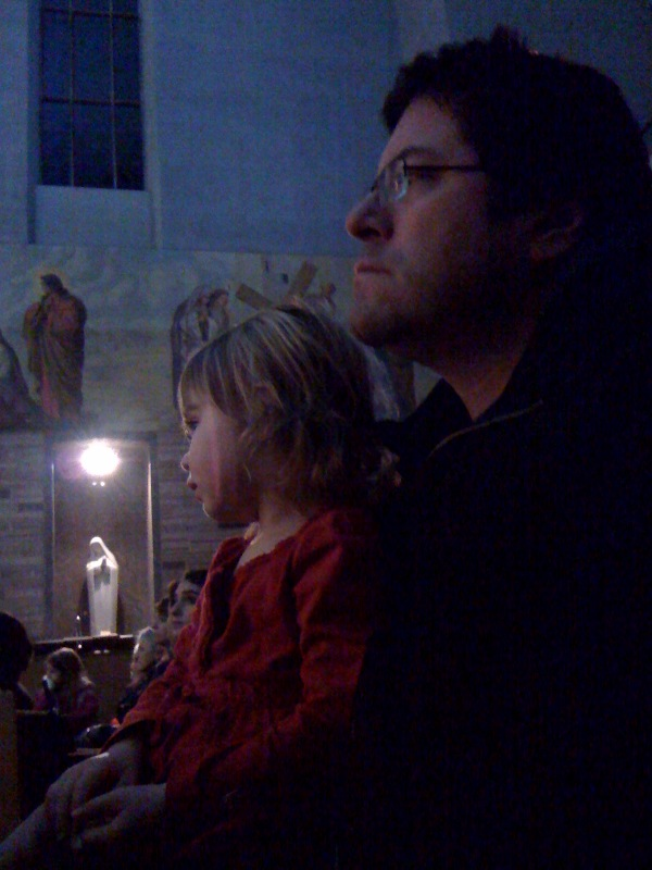Held rapt by the choir at Festival of Lights