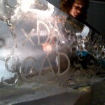 Ice sculpture of honor at #ixd10