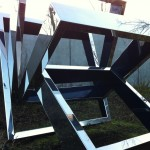 Tumbling panes at Seattle's sculpture garden