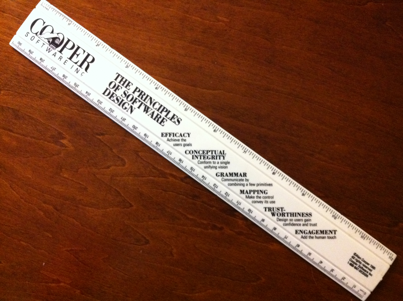"I treasure this ""Cooper Software"" ruler"