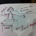 Brenda Laurel as a flapper #ixd11 #laurel