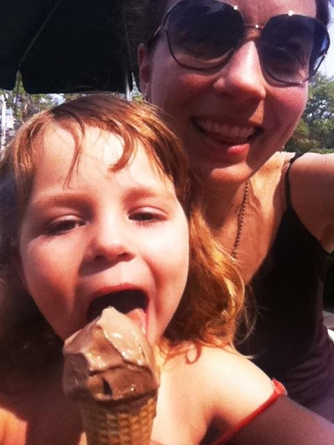 Oh yeah, chocolate ice cream before a round of mini-golf
