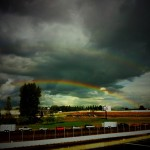 A double rainbow from the ever-changing skies helped us close the 2011 autox season