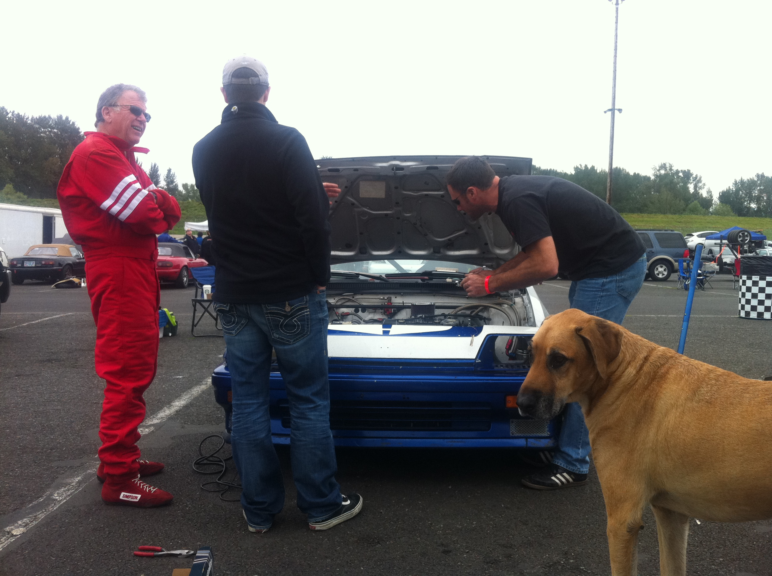 My Chumpcar crew tuning our ride ahead of the big day