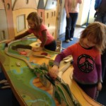 Friends playing at the Children's Museum