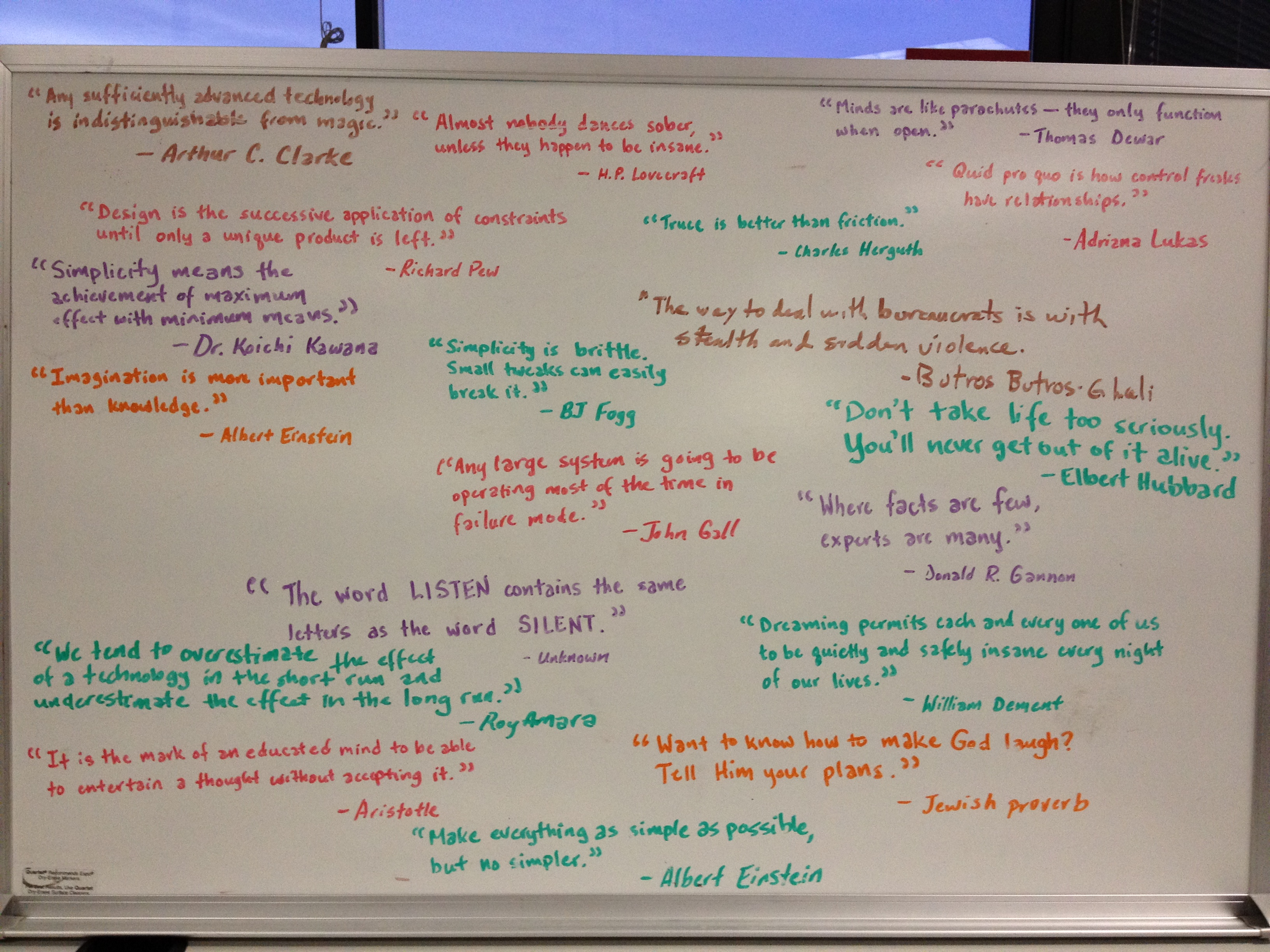An excellent bunch of quotes at office of my new client, TransCore /c @ceciliacase