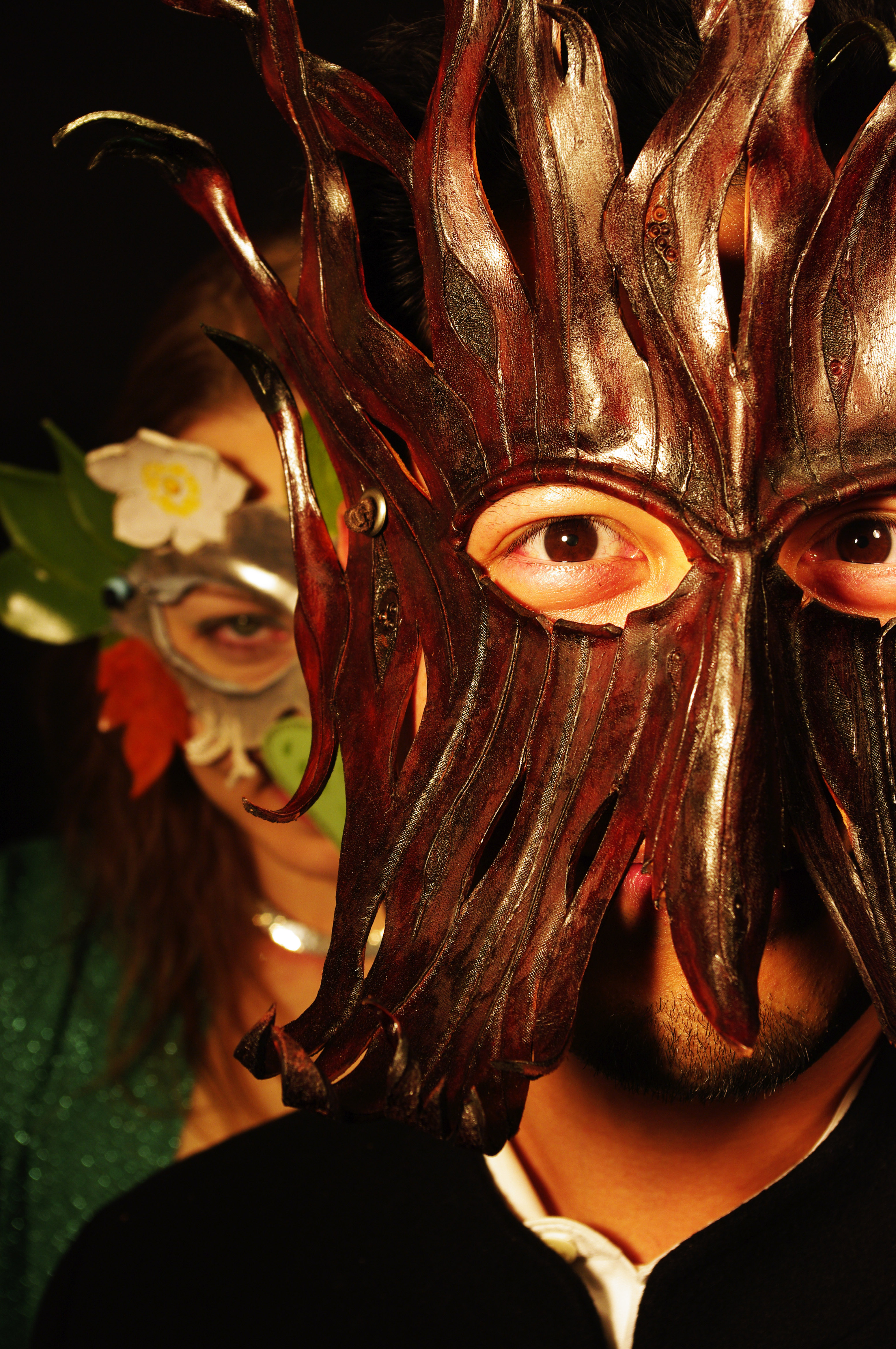 Holiday masquerade party shenaningans