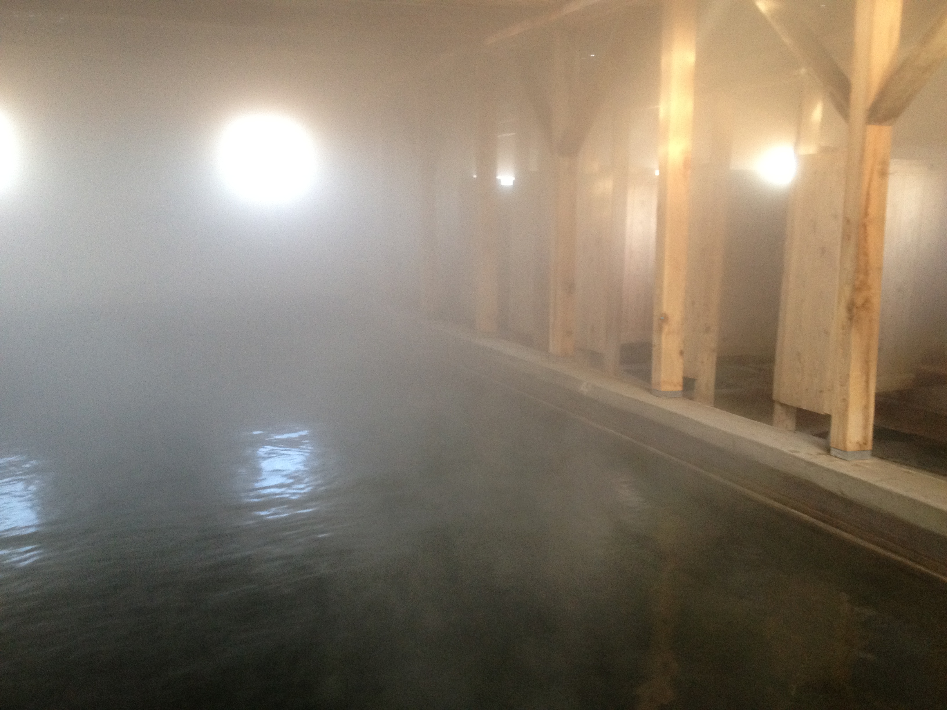 My morning began in the Summer Lake Hot Springs indoor bathhouse