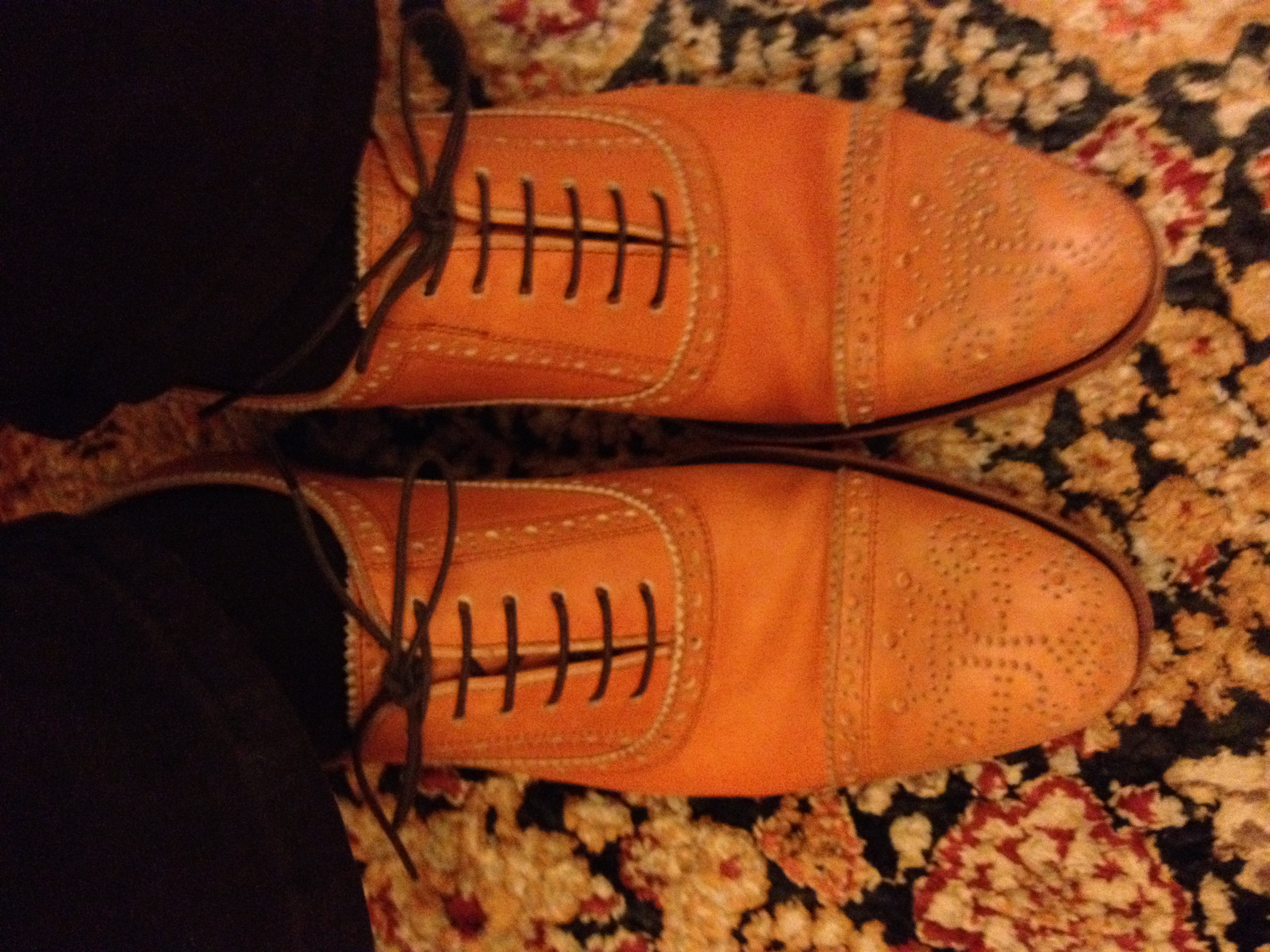 #uxshoes Somebody got her first pair of Fleuvogs, in a snazzy orange
