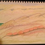 Painted Hills, the last sketch for this notebook